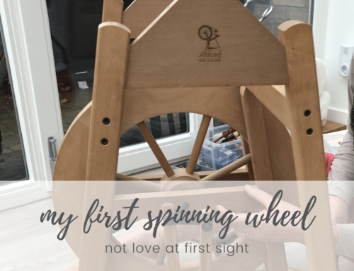 My first spinning wheel – no love at first sight